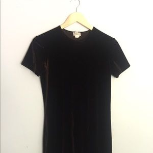 J Crew Chocolate Brown Velvet Party Dress Size S